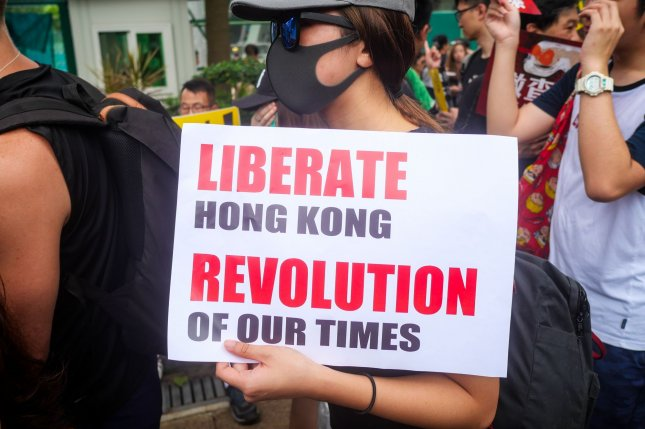 On Sunday, China condemned Canada's joint statement with the European Union concerning ongoing protests in Hong Kong urging the North American country to stop meddling in its affairs. Photo by Thomas Maresca/UPI
