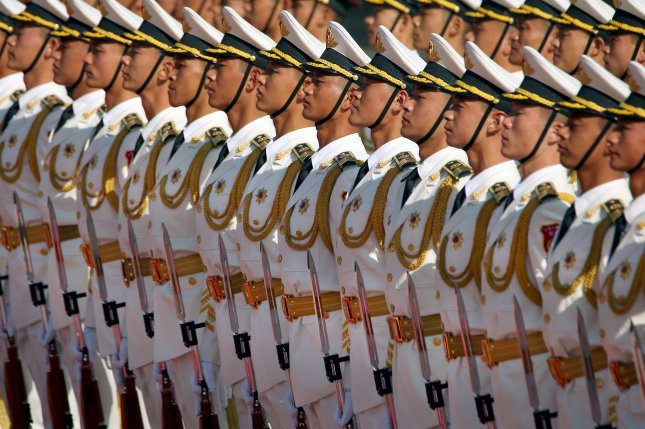 Political work is ensuring a strong allegiance to the Chinese Communist Party on all levels of the military, analysts say. File Photo by Stephen Shaver/UPI