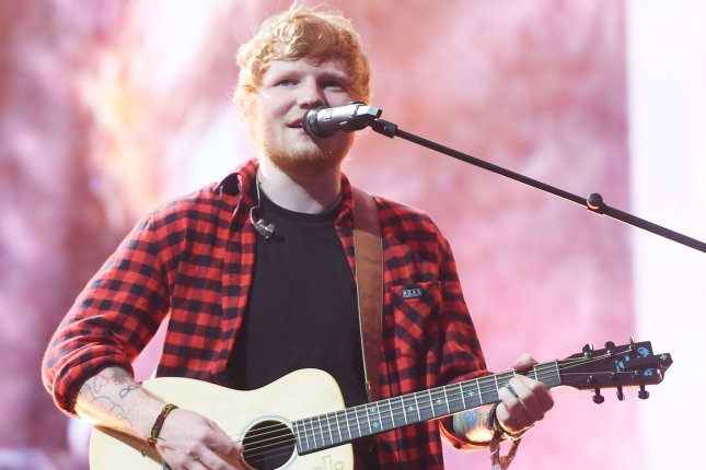 Ed Sheeran will be performing at the iHeartRadio KIIS FM Wango Tango event along with Justin Bieber. File Photo by Rune Hellestad/UPI