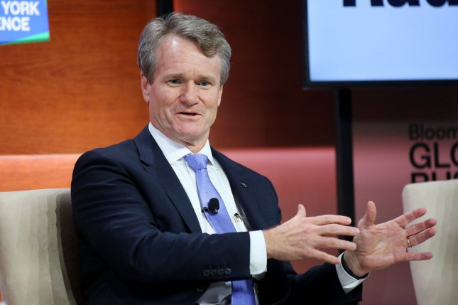 Bank of America CEO Brian Moynihan says the bank was the first to accept Paycheck Protection Program applications and has provided loans to 500,000 small businesses, the most of any financial institution. File Photo by Monika Graff/UPI