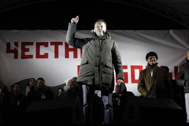 One of the opposition leader Alexei Navalny speaks during a massive rally Russia without Putin in Moscow to protest against Vladimir Putin's victory in a presidential election on March 5, 2012. UPI/Yuri Gripas