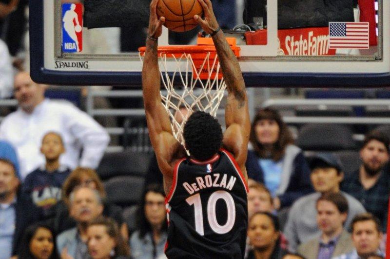 Toronto Raptors guard DeMar DeRozan (10). File photo by Mark Goldman/UPI