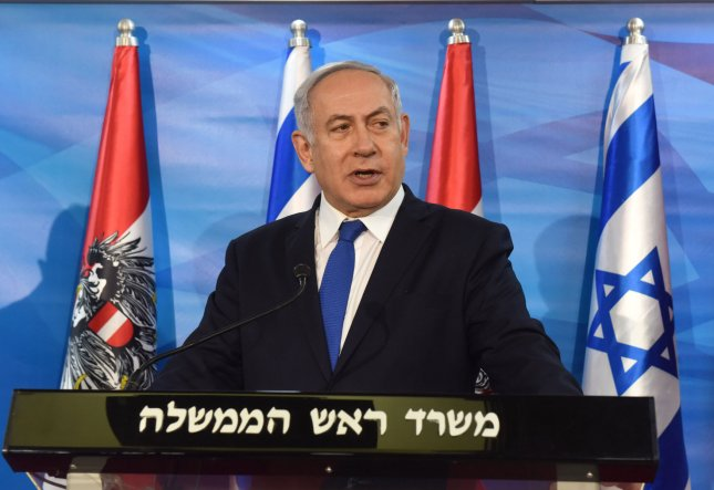 Israeli Prime Minister Benjamin Netanyahu said Tuesday that he will visit Russian President Vladimir Putin in Moscow later this month to discuss Iranian efforts to establish a military presence in Syria. Photo by Debbie Hill/UPI