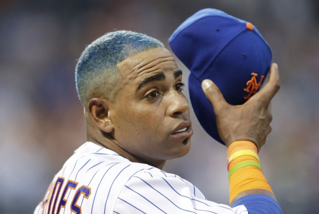 New York Mets outfielder Yoenis Cespedes was already on the 60-day injured list rehabbing from heel surgeries. File Photo by John Angelillo/UPI