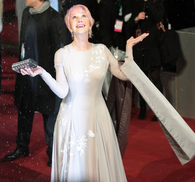 British actress Helen Mirren arrives at the Baftas Awards Ceremony at The Royal Opera House, London on February 10, 2013. UPI/Hugo Philpott