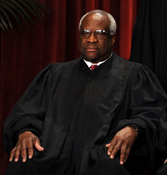 U.S. Supreme Court Justice Clarence Thomas, shown in a 2010 file photo, has agreed to address a Yale Law School alumni dinner in Washington this month. UPI/Roger L. Wollenberg