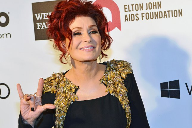 Sharon Osbourne arrives for the Elton John AIDS Foundation Academy Awards Viewing Party at West Hollywood Park in Los Angeles on March 2, 2014. UPI/Christine Chew