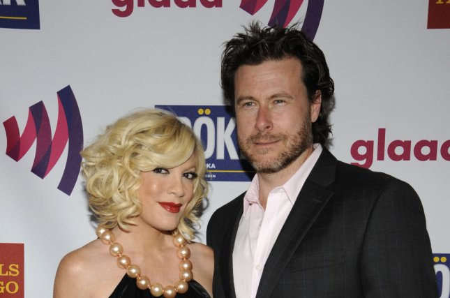Tori Spelling (L) wants to continue 'True Tori,' even without husband Dean McDermott. UPI/Phil McCarten