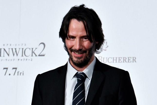 Keanu Reeves attends the Japan premiere for John Wick: Chapter 2 in Tokyo, Japan on June 13. John Wick Chapter 3 will be arriving in theaters in May 2019. File Photo by Keizo Mori/UPI