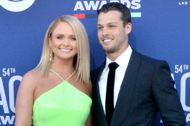 Miranda Lambert (L), pictured with Brendan McLoughlin, is up for three awards at the CMT Music Awards. File Photo by Jim Ruymen/UPI