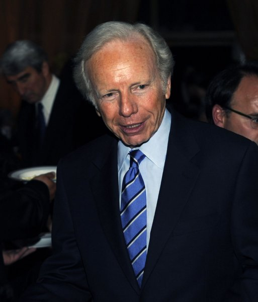 Sen. Joe Lieberman (I-CT) attends the 30th Anniversary Refugees International dinner at the Embassy of Italy in Washington on May 7, 2009. The organization is honoring Ted Turner for his contributions to humanitarian issues. (UPI Photo/Alexis C. Glenn)