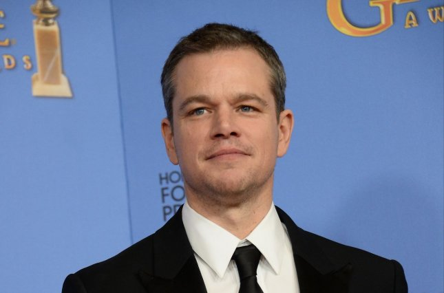 Matt Damon at the Golden Globe Awards on January 10. The actor is nominated for The Martian at the 88th Academy Awards. File Photo by Jim Ruymen/UPI
