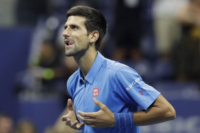 Novak Djokovic of Serbia. Photo by John Angelillo/UPI