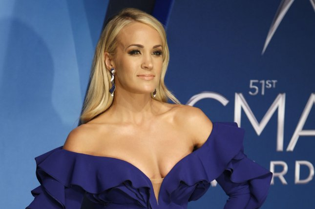 Carrie Underwood said she got over 40 stitches in her face following a November incident where she also broke her wrist. File Photo by John Sommers II/UPI