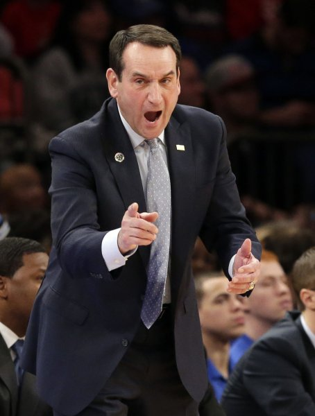 Coach Mike Krzyzewski and the Duke Blue Devils take on the Auburn Tigers in Maui on Tuesday. Photo by John Angelillo/UPI