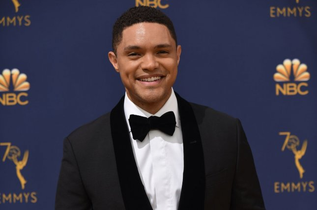 Trevor Noah will be hosting The Daily Show live following a speech by President Donald Trump. File Photo by Christine Chew/UPI