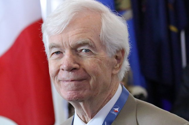 Mississippi Sen. Thad Cochran attends the opening of the U.S. International Pavillion during the International Paris Air Show at Le Bourget, near Paris, France, on June 15, 2015. File Photo by David Silpa/UPI