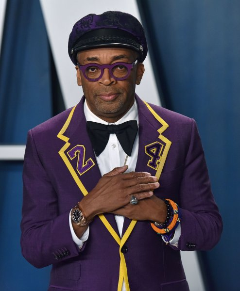 Director Spike Lee arrives for the Vanity Fair Oscar party at the Wallis Annenberg Center for the Performing Arts in Beverly Hills, Calif., on February 9. The filmmaker turns 63 on March 20. File Photo by Chris Chew/UPI