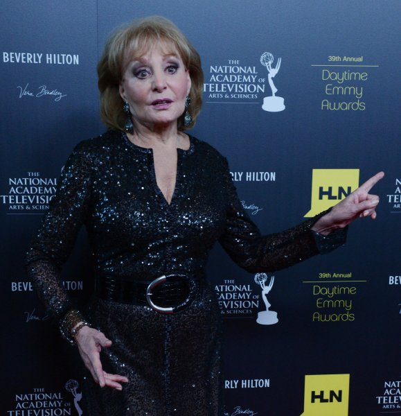 Barbara Walters appears backstage at the 39th annual Daytime Emmy Awards in Beverly Hills, California on June 23, 2012. UPI/Jim Ruymen