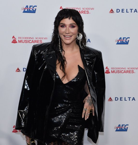 Kesha arrives for the MusiCares Person of the Year gala honoring Aerosmith at the Los Angeles Convention Center on January 24, 2020. The singer turns 34 on March 1. File Photo by Jim Ruymen/UPI
