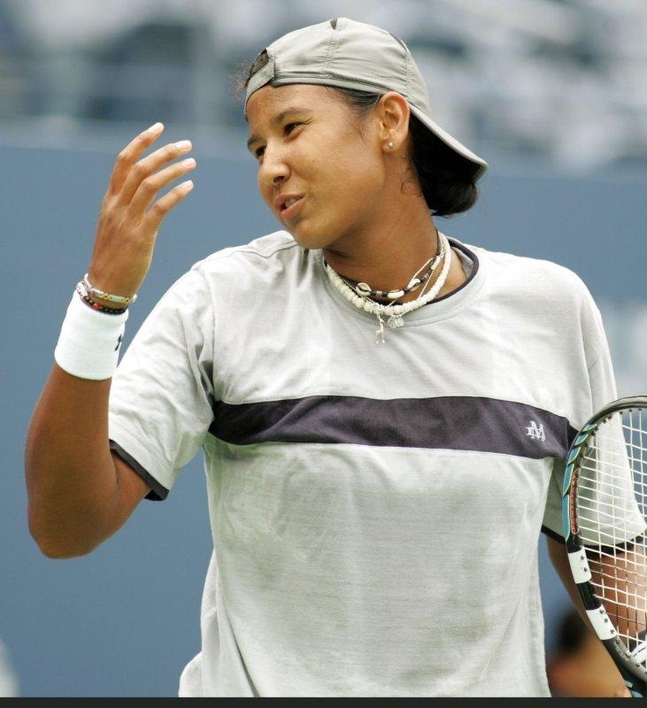 Akgul Amanmuradova, shown in a 2008 file photo, was a first-round winner Monday at a WTA tournament in China. (UPI Photo/Monika Graff)