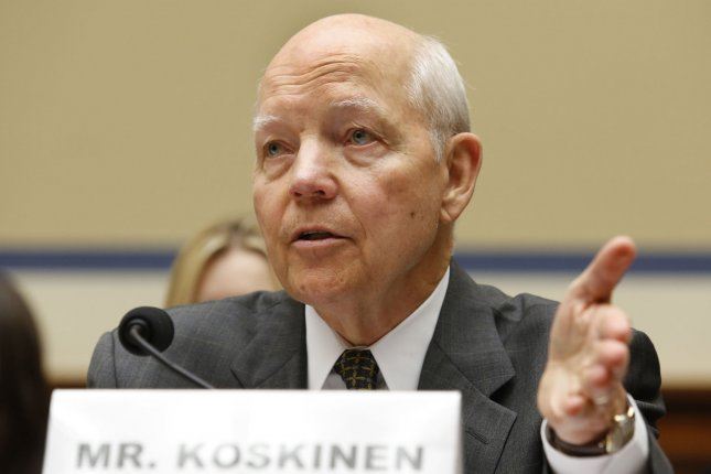 Internal Revenue Service Commissioner John Koskinen testifies before the House Oversight and Government Reform Committee hearing on Capitol Hill on July 9, 2014. Tuesday, the panel is expected to address purported misdeeds of the IRS related to the targeting scandal, which reportedly include the issue of impeaching Koskinen from his post at the tax branch. File Photo by Yuri Gripas/UPI