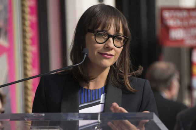 Rashida Jones speaks at a ceremony where Amy Poehler receives the 2,566st star on the Hollywood Walk of Fame in Los Angeles on December 3, 2015. File Photo by Phil McCarten/UPI