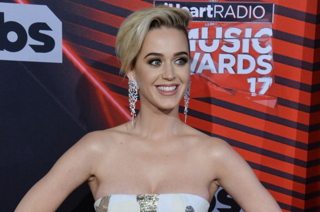 Katy Perry arrives for the iHeartRadio Music Awards on March 5. Katy Perry accepted the Human Rights Campaign's National Equality Award Saturday. Photo by Jim Ruymen/UPI
