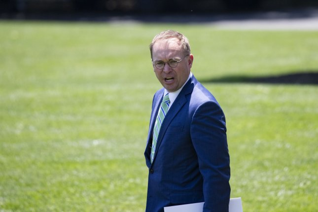 White House chief of staff Mick Mulvaney has been subpoenaed, but is still not likely to testify in the impeachment hearing. File Photo by Alex Edelman/UPI