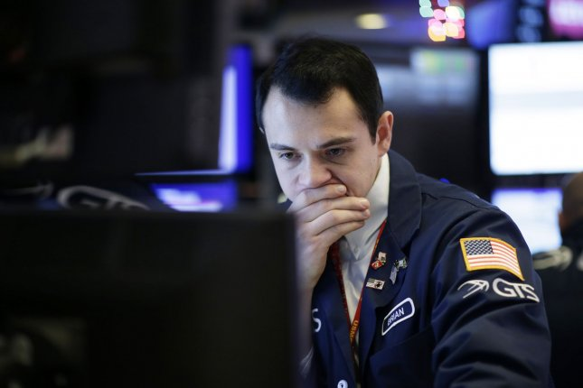 The Dow Jones Industrial Average dropped more than 280 points falling for a third straight day on Tuesday after President Donald Trump said the United States and China may not reach a trade deal until after the 2020 presidential election. Photo by John Angelillo/UPI