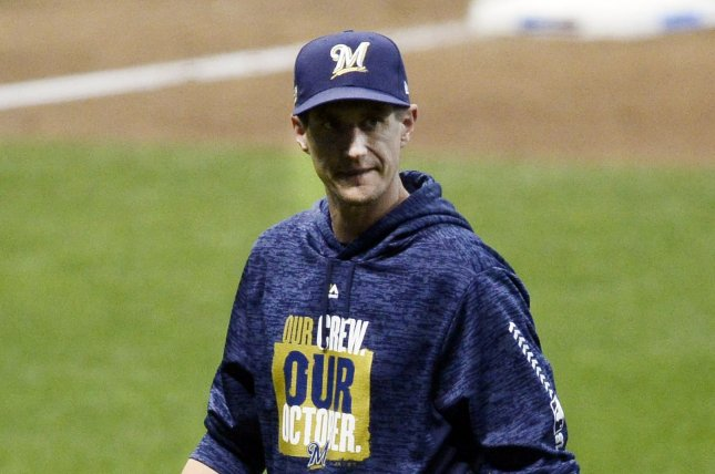 Milwaukee Brewers manager Craig Counsell had one season remaining on his contract. File Photo by Brian Kersey/UPI