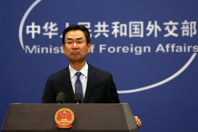 China's Foreign Ministry spokesman Geng Shuang said Tuesday U.S. officials stigmatize China when characterizing the new strain of coronavirus as Chinese. File Photo by Stephen Shaver/UPI