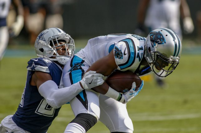 Devin Funchess played the first four seasons of his career for the Carolina Panthers. File Photo by Nell Redmond/UPI