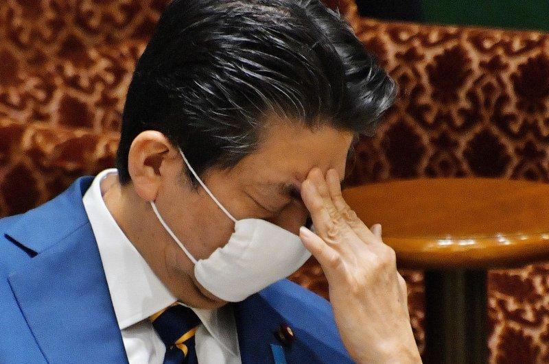 Japan's Prime Minister Shinzo Abe's approval rating has dropped amid the global coronavirus pandemic. File Photo by Keizo Mori/UPI