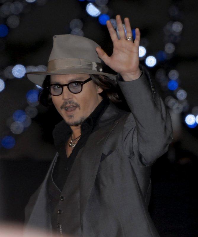 Actor Johnny Depp attends a Japan premiere for the film Public enemies in Tokyo, Japan on December 10, 2009. UPI/STR