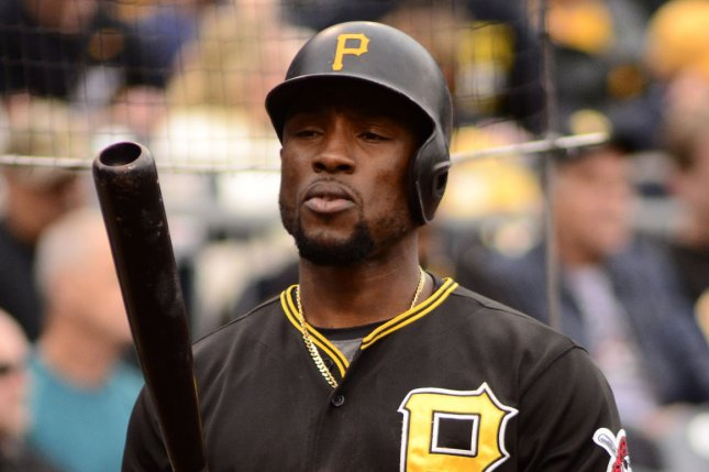 Pittsburgh Pirates' Starling Marte (6). Photo by Archie Carpenter/UPI