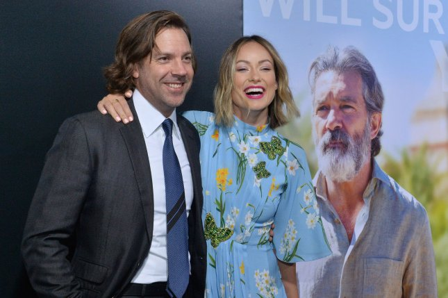 Olivia Wilde (R) played barber for Jason Sudeikis on The Ellen DeGeneres Show. File Photo by Jim Ruymen/UPI