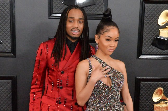 Quavo (L) and Saweetie discussed their romance in the August issue of GQ. File Photo by Jim Ruymen/UPI