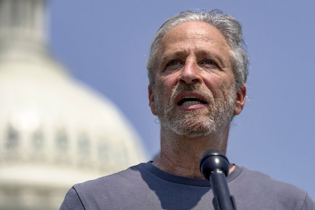 Jon Stewart has been booked to appear on The Late Show with Stephen Colbert on Monday. File Photo by Jemal Countess/UPI