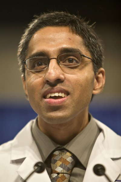 President of Doctors for America Vivek Murthy, MD speaks in front of members of Doctors for America to show support for the healthcare reform bill in Washington March 22, 2010. Murthy's nomination as U.S. Surgeon General has been opposed by the National Rifle Association because he considers gun violence a health problem. UPI/Madeline Marshall