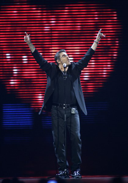 George Michael performs in concert during his 25 Live tour at the BankAtlantic Center in Sunrise, Florida on August 3, 2008. (UPI Photo/Michael Bush)