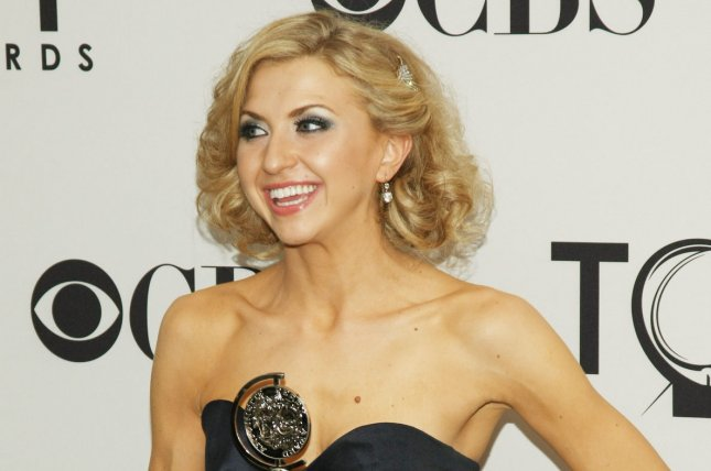Nina Arianda from Venus in Fur, winner of Best Performance by an Actress in a Leading Role in a Play, poses for photographer during the 66th Annual Tony Awards held at the Beacon Theatre on June 10, 2012 in New York City. UPI/Monika Graff