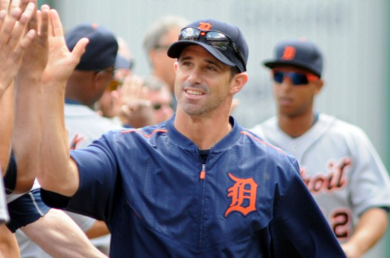 Detroit Tigers manager Brad Ausmus (7). Photo by Archie Carpenter/UPI