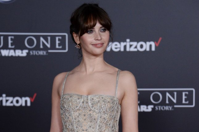 Cast member Felicity Jones attends the premiere of the sci-fi motion picture Rogue One: A Star Wars Story' in Los Angeles on December 10. Photo by Jim Ruymen/UPI