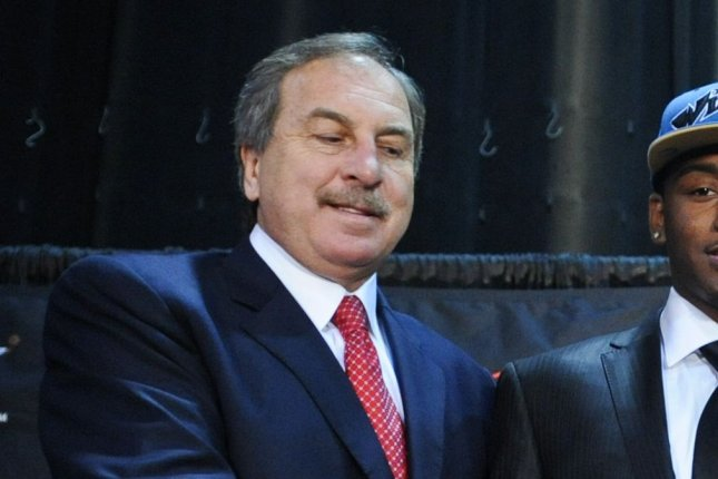 Wizards President Ernie Grunfeld was fired by the team on Tuesday, ending a run of 16 seasons with the franchise. The team went 568-724 while Grunfeld was president. File Photo by Alexis C. Glenn/UPI