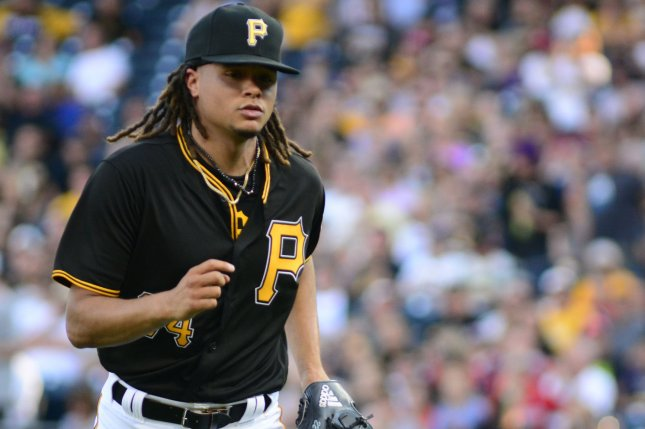 Pittsburgh Pirates pitcher Chris Archer will not play until at least 2021 after he had surgery Tuesday at Washington University Hospital in St. Louis. File Photo by Archie Carpenter/UPI
