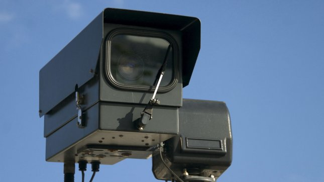 A surveillance camera is seen in London on August 11, 2009. There are an estimated 4.2 million surveillance cameras in the United Kingdom, about one for every 14 people. UPI/William James