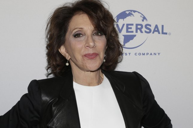 Andrea Martin arrives on the red carpet at My Big Fat Greek Wedding 2 premiere on March 15, 2016 in New York City. The actress will join other Broadway stars for an event called Concert for America in New York on Friday. File Photo by John Angelillo/UPI