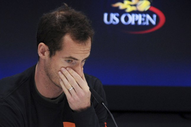 Andy Murray of England speaks at a press conference in Arthur Ashe Stadium on August 26, before the 2017 US Open Tennis Championships at the USTA Billie Jean King National Tennis Center in New York City. File photo by Dennis Van Tine/UPI