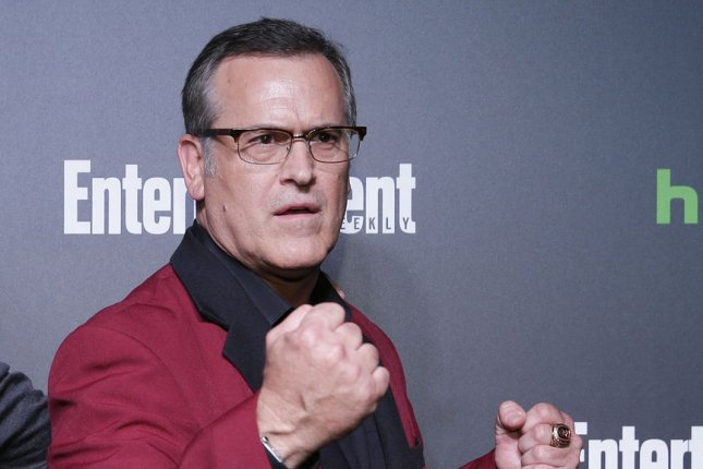 Bruce Campbell will learn he is the father of a teen-age daughter in Season 3 of his horror-comedy series Ash vs. Evil Dead. File Photo by John Angelillo/UPI